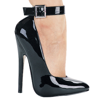"6"" Heel Fetish Pump W/Ankle Strap"
