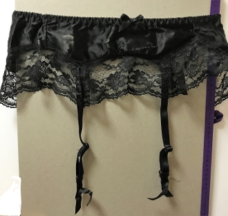 Satin Lace Garter Belt